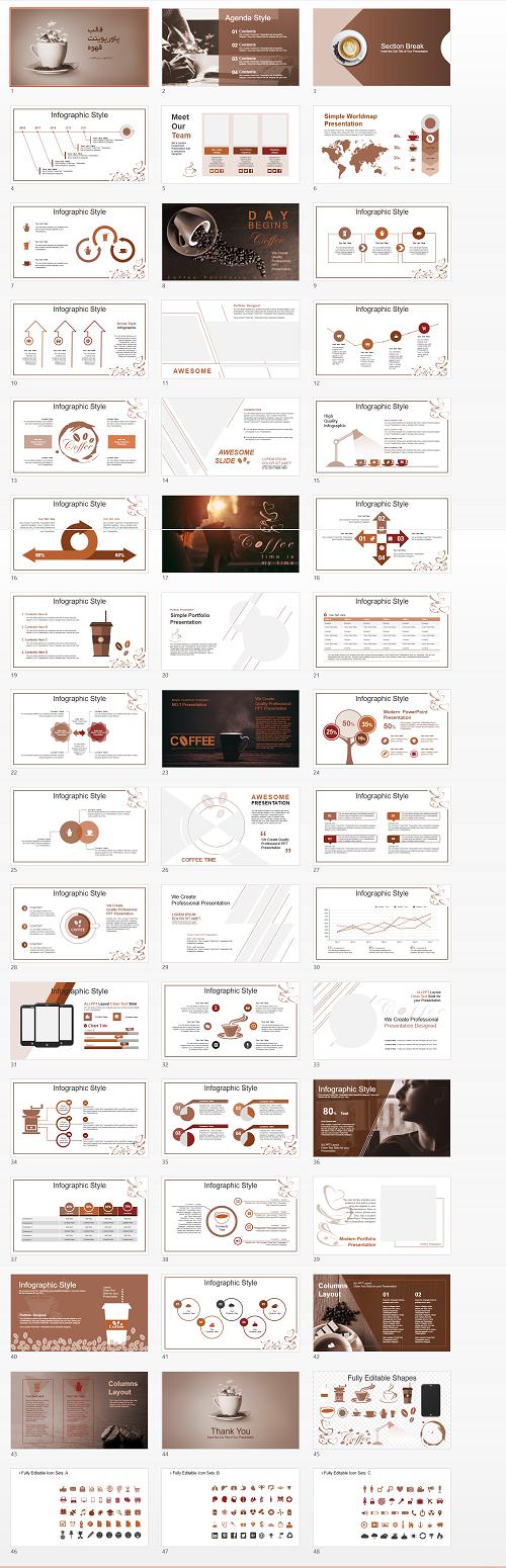 قالب- پاورپوینت- قهوه (2)