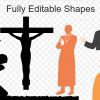 قالب پاورپوینت بررسی عقاید مسیحیت